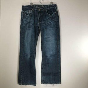 Helix Boot Cut 36 X 30 Mens Jeans Distressed